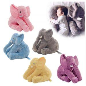 40CM / 60CM baby djur plysch Elephant docka Pillow Barn Leksaker Barnrum Bed Decoration Leksaker