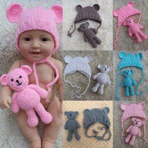Nyfödd hatt Fylld plysch Toy Docka Tillbehör utan återfödd Baby Docka