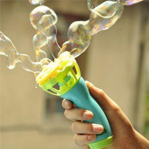 Elektrisk bubbla maskin fläkt blåser bubbla vapen barn spelar spel leksak