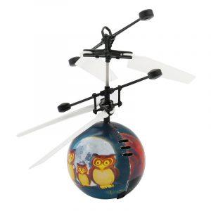 Innovativ Luminous Flying Ball Owl Mönster RC Helicopter LED Lighting Toy för barn
