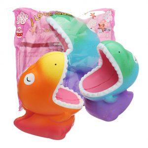 Big Mouth Dinosaur Squishy 15 * 12,5 * 8,5 cm långsammare mjuka leksaks presentsamling med förpackning