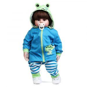 NPK 22 '' Groda Reborn Silicone Handgjorda levande Baby Docka Realistisk nyfödd leksak