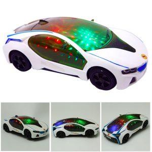 Ny Super Blinkande LED Ljus Musik Ljud Elektriska Bil Leksaker