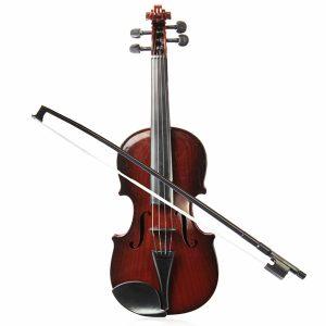 4/4 Ukuran Penuh Plast Justerbar String Barn Instrument Simulering Violin Leksaker