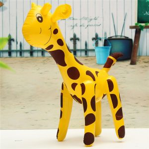 Uppblåsbara Giraff Zoo DjurBlow Up Inflate Party Toy Pool Party Decor Present