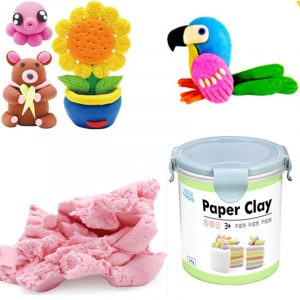 Nororo Paper Clay 800ML SOFT Ultralight DIY Non-Toxisk Non-Brushed Space Sand barns Play Toy