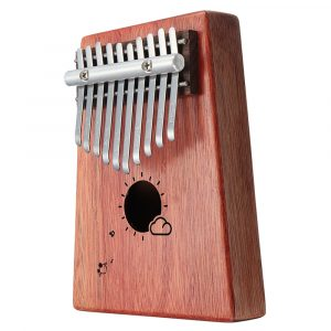 10 Keys Kalimba African Solid Mahogany Wood Thumb Piano Finger Percussion för presenter