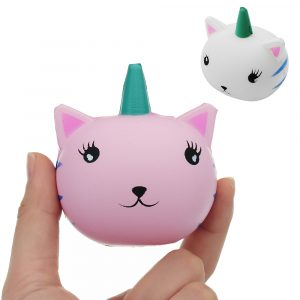 Unicorn Cat Squishy 7,1 * 6,2 cm långsammare mjuk kollektion present inredning leksak