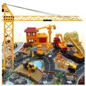 200st Engineering Byggarbetsplats Scenbyggnad Modell Set För Barn Barn Julklappleksaker
