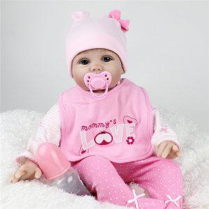 55cm 3D Realistic Reborn Spädbarn Baby Toy Lifalike Docka Silikon Och Bomull Body Baby Dockas