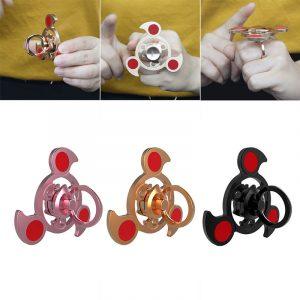 Aluminiumlegering Färgglatt Ringform Roterande Fidget Hand Spinner EDC Fingertips Minskar Stress Leksaker