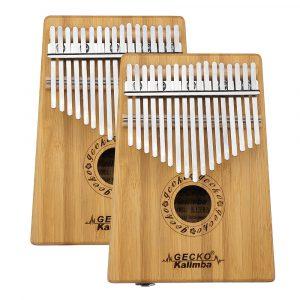 GECKO K17BA 17 tangenter Kalimba Bamboo B Tone Thumb Piano Finger Med Tune Hammer