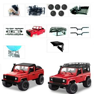 1 Set MN-90 Kit 1/12 2.4G 4WD Rc bil Crawler Monster Truck utan ESC-sändarmottagare Batteri