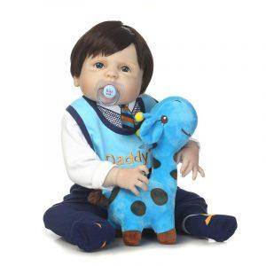 "NPK 23 ""Reborn Baby Docka Mjuk Kropp SIlicone Vinyl Lifelike Newborn Boy Babies Docka barns barnre Present"