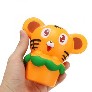 Squishy Tiger 13cm Soft Slow Rising 10s Collection Present Decor Squeeze Stress Reliever Toy