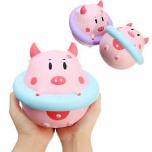 YunXin Squishy Jumbo Piggy 16cm Pig Slitböjning Långsam Rising Söt Samling Present Inredning Leksak