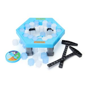 FUNTOK Spara Penguin Ice barns Pussel Spel Break Ice Block Hammer Fälla Party Toy Pretend Icebreaker