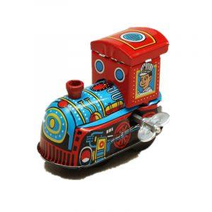 Vintage Wind Up Tin Toy Clockwork Vår LocomotivE Classic Toy
