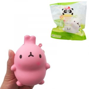 Gigglebröd Rabbit Squishy 9 * 7cm långsammare med Packaging Collection Gif Decompression Toy