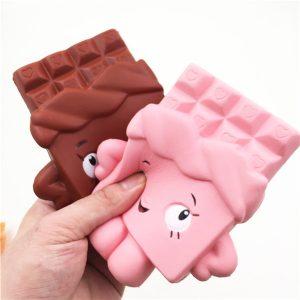 Squishy Chocolate Bar Slow Rising 13cm Jumbo Söt Kawaii Collection Decor Gåva Toy
