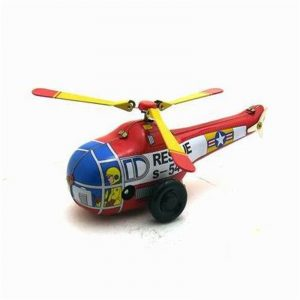 Classic Vintage Clockwork Little Helicopter Nostalgisk Wind Up Barn barns Tin Leksaker With Key