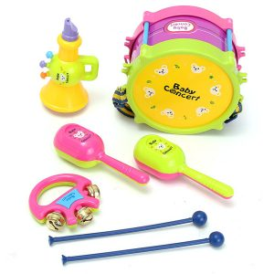 5st barn barn baby trumma musikinstrument band kit barn leksak present set