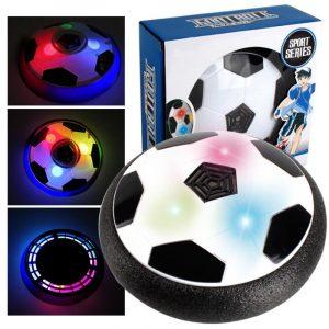Air Power Soccer Disc Fotboll Inomhus Utomhus Hover Ball LED Lighting Musik Leksaker För Barn Present