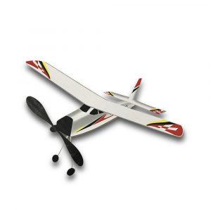 Lighting Flighter 400mm Wingspan 3D Cabin Gummi Power Launch Glider DIY Radiostyrda Flygplan