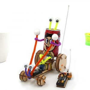 DIY Pedagogiska Electric 2CH Jumper Robot bil Kit Scientific Uppfinning Leksaker
