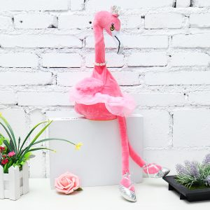 Flamingo Singing Dancing Pet Bird 50cm 20Inches Julklapp Fylld Plush Toy Cute Docka