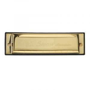 Swan SW1020-7 10 Hål 20 Toner C Key Gold Color Blues Harmonica