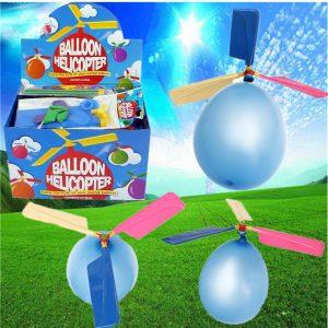 10st Partihandel Färgrik Traditionell Klassisk Ballong Helikopter Flyttbar Toy