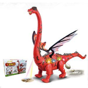 Elektrisk Dinosaur Toy Leka Ägg Projektion Barn Gåva Rolig Nyhet Leksaker