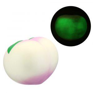 25 * 23cm Stor Squishy Dark Luminous Peach Super långsammare fruktleksak med originalförpackning