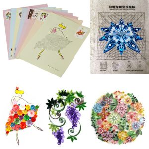 18st DIY-utgåva Teckning av lokaliserande papper Quilling Tool Craft Paper Art Collection Set