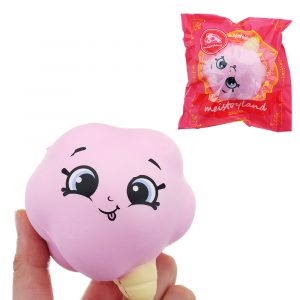 Meistoyland Squishy Långsam Rising Squeeze Toy Stress Ice Cream Bomull Candy Present