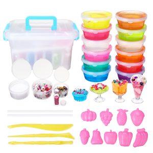 10 färger Slime DIY Mögel Mjukt Plasticine Ritning Lera Moulding Polymer Barn Manual Training