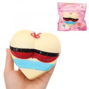 Baddräkt Kärlekskaka Squishy 10 * 5 * 11cm långsammare med Packaging Collection Present Soft Toy