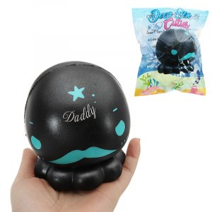 Cutie Creative Black Octopus Squishy 16cm långsammare med Packaging Collection Present Soft