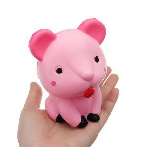 Mus Squishy Fun Djur11 * 9 * 6,5 cm långsam stigande samlingsgåva mjuk leksak