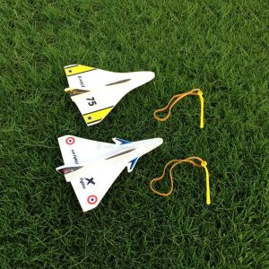 Elastic Rubber Band Powered DIY Delta Wing Skum Plansats Flygplansmodell Outdoor Leksaker