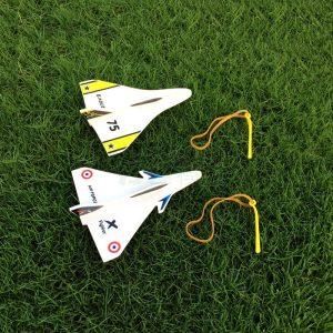 Elastic Rubber Band Powered DIY Delta Wing Skum Plansats Flygplansmodell Outdoor Leksaker