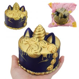 Unicorn Cake Squishy 11 * 10 * CM långsammare med Packaging Collection Present Soft Toy