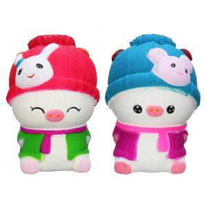 11,5 * 8 * 6cm Squishy Baby Pig Långsam Rising Toy Toy Present Telefonväska