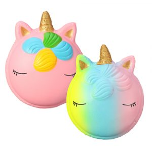 Fantasy Animal Squishy Unicorn Macaron 9cm Jumbo Toys Gift Collection med förpackning