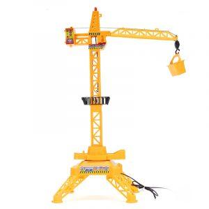 1/64 Fjärrkontroll Crane Hobby barn Lift Construction Present Toy med tillbehör