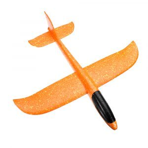 5st Orange Plane Leksaker 48cm Stor Storlek Hand Starta Kasta Flygplan Flygplan Glider DIY Skum EPP Plane