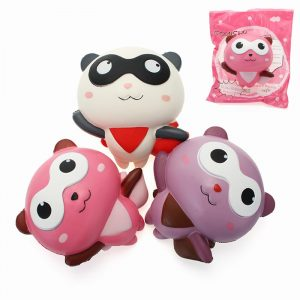 YunXin Squishy Panda Man Robin Team 12cm långsammare med Packaging Collection Present Decor Toy
