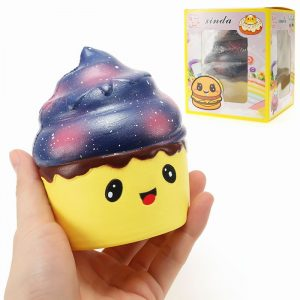 Xinda Squishy Ice Cream Cup 12cm Mjukt långsamt stigande med Packaging Collection Present Decor Toy