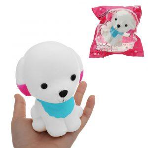 Teddy biltoon Puppy Squishy 12,5 * 9,5 cm långsammare med Packaging Collection Present Soft Toy